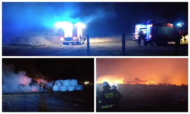 We wsi Nowoberezowo wybuchł pożar, w którym zginęło ponad 2,5 tysiąca świń. Zdjęcie pochodzi z fanpejdża OSP Narew