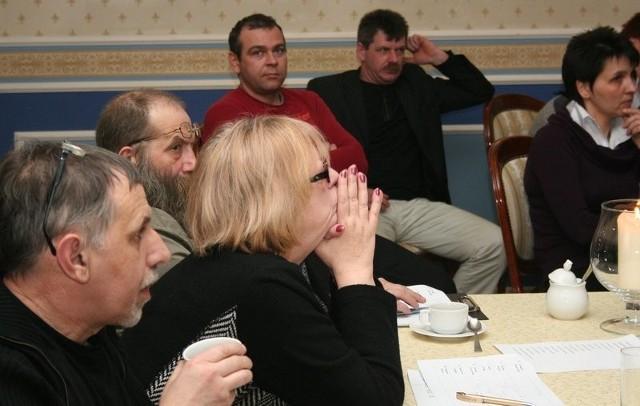 Jan Jabłoński, dyrektor WOEiPK, Andrzej Głowacki i Elżbieta Zapendowska.