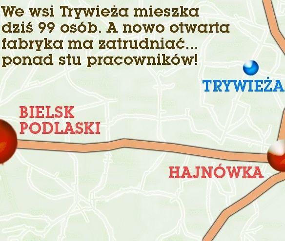 Zakład produkcyjny ma powstać w miejscowości Trywieża niedaleko Hajnówki. Leier Polska wybuduje tam kopalnię iłów i zakład ceramiki