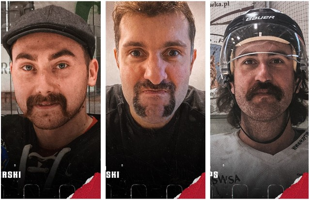 """Hokeiści dla zdrowia! Nowa akcja klubów Polskiej Hokej Ligi. Facet z wąsem to naturalny ambasador akcji Movember. Wąs, niczym różowa wstążka, stał się symbolem walki z rakiem. """"Przełamujemy tematy tabu, prawdziwy mężczyzna nie tylko interesuje się hokejem, ale i swoim zdrowiem"""" - zachęca PHL. Akcja ma na celu promocję profilaktyki w zwalczaniu raka prostaty i jąder u mężczyzn. Dziennie w Polsce umiera średnio 15 mężczyzn z powodu raka prostaty. Według danych Krajowego Rejestru Nowotworów w ciągu ostatnich 30 lat zachorowalność wzrosła blisko siedmiokrotnie! Wielu z nich przegrywa tę walkę z powodu braku wiedzy na temat objawów i strachu przed badaniem. Tymczasem czasami jedna wizyta 40-latka w gabinecie może uratować życie!Zobaczcie efektowne wąsy hokeistów >>>Na następnych zdjęciach kolejne informacje. Aby przejść do galerii, przesuń zdjęcie gestem lub naciśnij strzałkę w prawo."""
