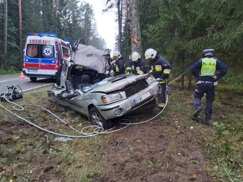 Żednia. Śmiertelny wypadek kierowcy subaru forester....