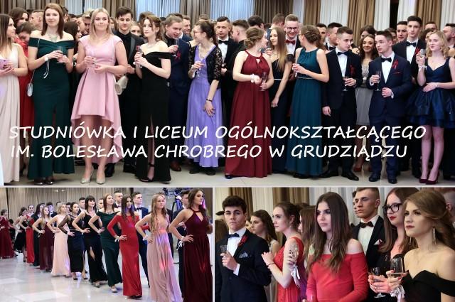 """W hotelu 'Rudnik"""" maturzyści z czterech klas I """"ogólniaka"""" z Grudziądza bawili się na tradycyjnej studniówce. Toast wygłosiła i bal studniówkowy otworzyła dyrektor jedynki Aleksandra Majkowska a choreografię polonezów przygotowała wuefistka Monika Ochał."""