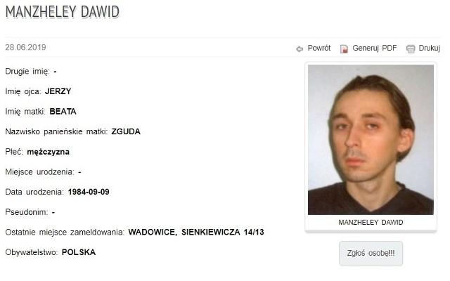Czy poszukiwany Dawid Manzheley z Wadowic to David Manzheley z Brukseli, organizator gejowskiej orgii? Wielce prawdopodobne, policja  tego nie wyklucza