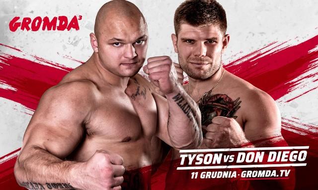 GROMDA 3 - walki na gołe pięści. Kto okaże się lepszy w walce Tyson - Don Diego i zostanie pierwszym mistrzem? Transmisja na żywo online w piątek, 11.12.2020. Sprawdź, gdzie wykupić stream live