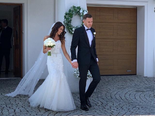 Adam Deja ze swoją świeżo poślubioną żoną Aleksandrą