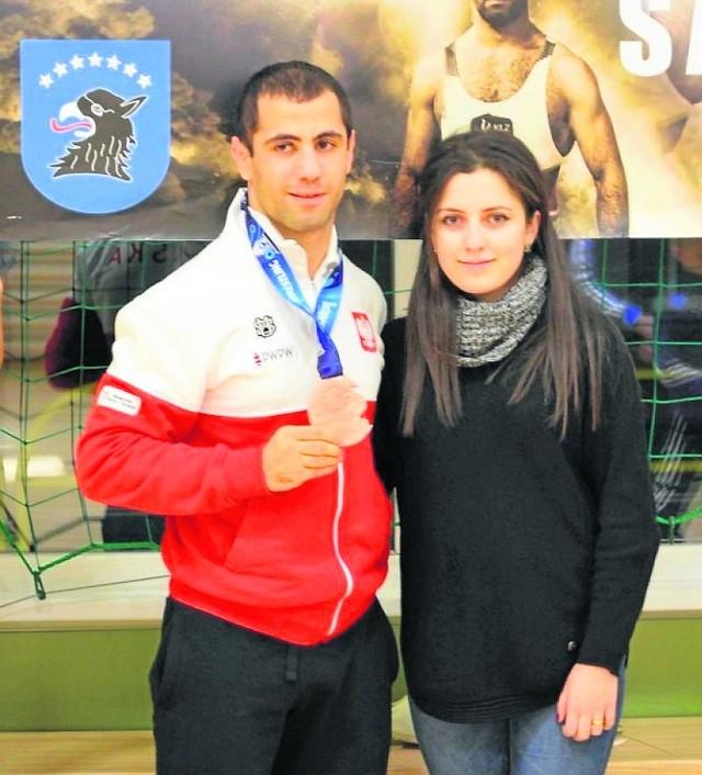 Geworg z żoną na powitaniu mistrzostw świata