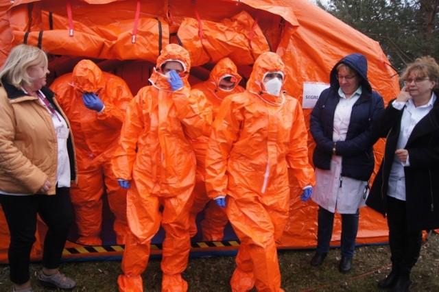 Koronawirus. Ćwiczenia w Radomsku. Szpital Powiatowy gotowy na wypadek epidemii (4 marca 2020)