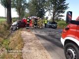 Czyżew - Szulborze Wielkie. Wypadek śmiertelny po zderzeniu dwóch samochodów osobowych (zdjęcia)
