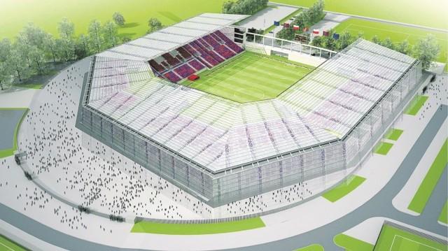 Projekt modernizacji stadionu Pogoni Szczecin, po poprawkach wniesionych przez władze klubu.