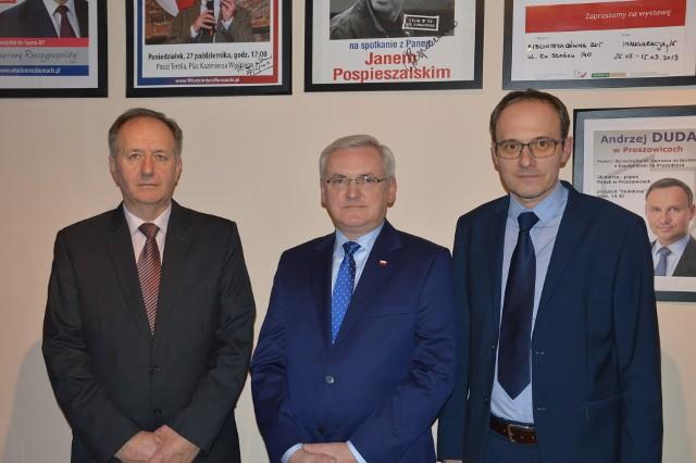 Na zdjęciu od lewej Wiesław Antos, Józef Gawron i Wojciech Rzadkowski.