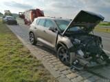 Wypadek na krajowej 94 w powiecie brzeskim, dwie osoby ranne