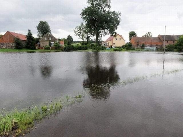 Zalana wieś Witków