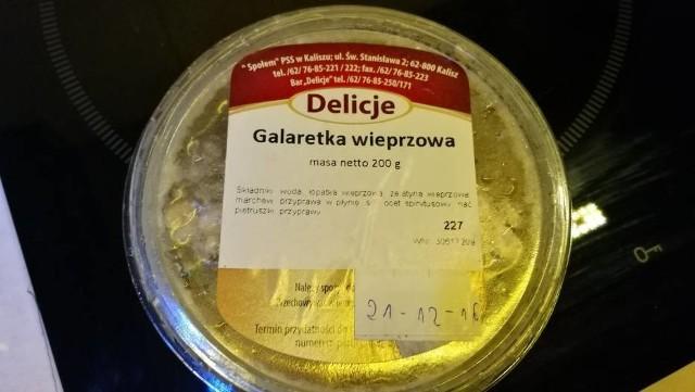 Kaliszanin kupił spleśniałą galaretkę wieprzową w Społem