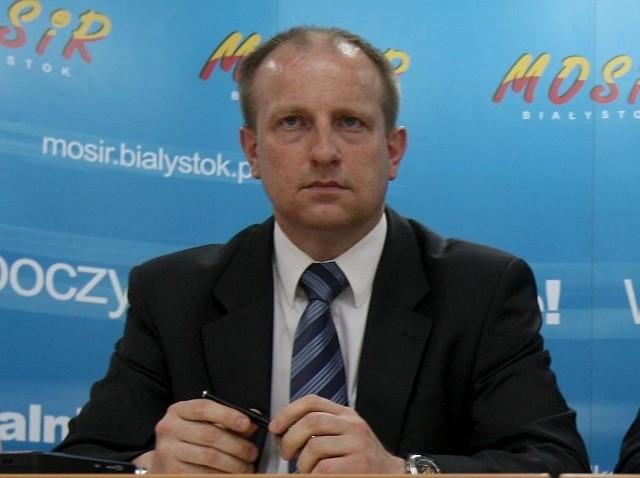 Adam Popławski - szef białostockiego MOSiR. Według naszych źródeł, to właśnie Miejski Ośrodek Sportu i Rekreacji zostanie zamieniony w spółkę.