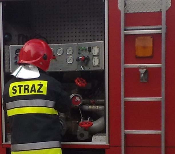 Strażacy interweniowali przy ul. Lechickiej.