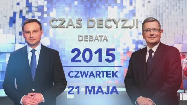 Debata prezydencka w TVN i TVN24 w czwartek o godz. 19.25