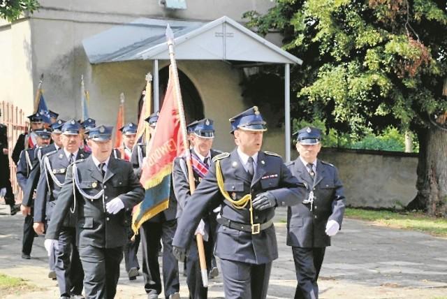 Strażacy podczas jubileuszu