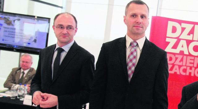 Minister Adam Zdziebło i Zenon Nowak, prezes Prasy Śląskiej