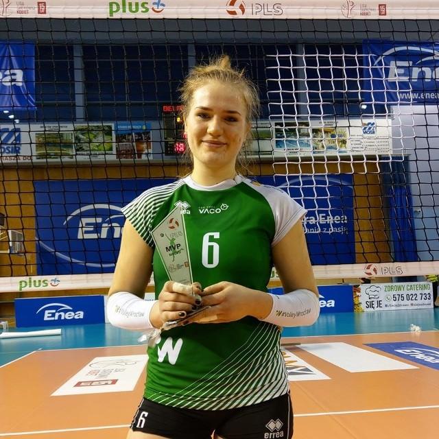 Aleksandra Rasińska jest w tym sezonie liderką #VolleyWrocław