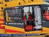 Wypadek na S3. Śmigłowiec zabrał dzieci do szpitala