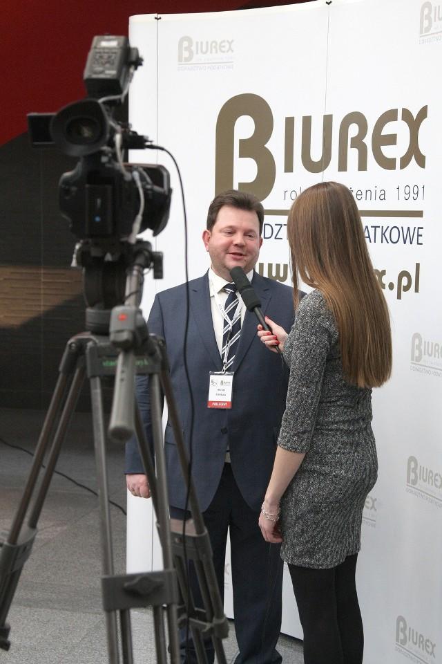 W Kielcach radzono lekarzom, jak prowadzić biznesMichał Cielibała, właściciel firmy Biurex i organizator konferencji dla lekarzy.