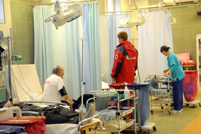 SOR w szpitalu wojskowym przy ul. Wrocławskiej.