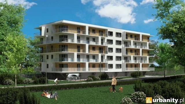 """Czteropiętrowy budynek wielorodzinny przy ul. Milionowej (na wprost parku """"Widzewska Górka""""). Powstanie w nim 39 mieszkań o pow. 45-80 mkw. (trzy- i czteropokojowe). Każde mieszkanie ma balkon - niektóre tarasy mają nawet do 32 mkw. Wolnych jest około 20 lokali.  Termin oddania do użytku - IV kwartał 2021 roku."""