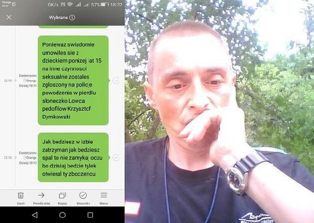 Łowca Pedofilów Krzysztof Dymkowski (na zdjęciu) namierzył mieszkańca okolic Hajnówki, który umówił się z czternastolatką na płatny seks. Policja zatrzymała pedofila w galerii Alfa w Białymstoku.