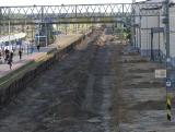 Rail Baltica. Rozpoczął się remont głównego odcinka stacji Białystok. Nie można korzystać z jednego peronu