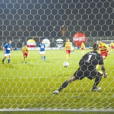 W 26. minucie pierwszego gola dla Jagiellonii strzelił z rzutu karnego Marcin Pacan