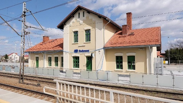 Odnowiony dworzec w Radymnie.