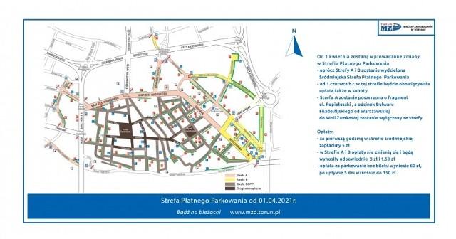 Oprócz istniejących już stref A i B, w Toruniu pojawi się również Śródmiejska Strefa Płatnego Parkowania.