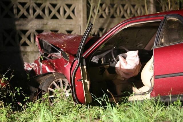 Wypadek na drodze krajowej nr 125 w pobliżu miejscowości Klępicz.