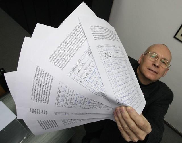 Leszek Kreft, rzecznik prasowy Starostwa Powiatowego przyniósł nam dzisiaj kilkadziesiąt podpisów poparcia dla naszej akcji.