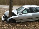 Strażacy z OSP Lubiszyn jechali do powalonego drzewa. Po drodze natknęli się na rozbite bmw
