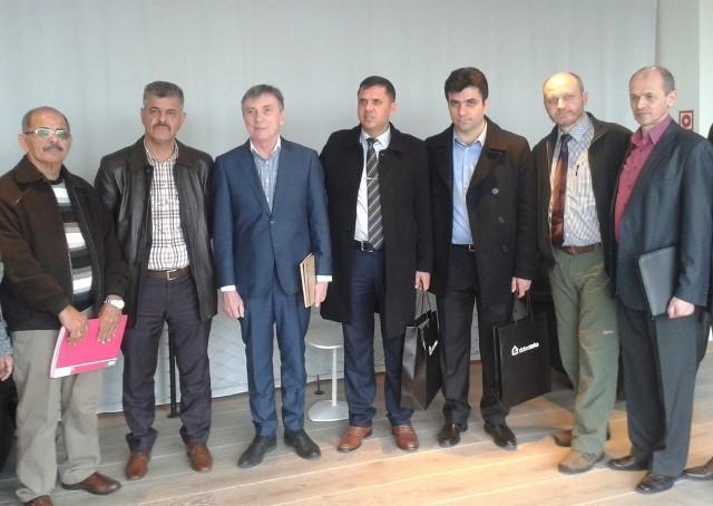 Biznesmeni z Kurdystanu w Dobrotece w Dobrodzieniu.