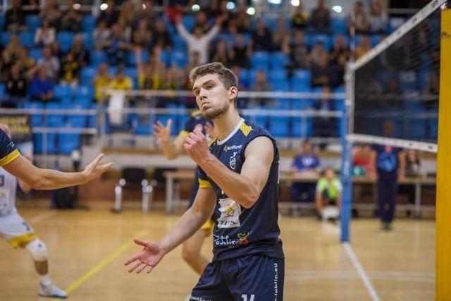 Atakujący Jędrzej Goss spędzi trzeci sezon w barwach LUK Politechniki Lublin