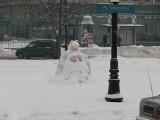 Śnieżna rzeźba w centrum Białegostoku (zdjęcia)
