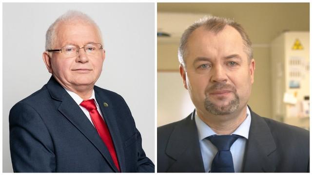 Od lewej: prof. Marek Mrówczyński oraz dr hab. Roman Kierzek, prof. OIR-PIB