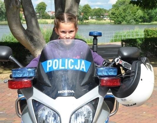 """Dodatkową atrakcją była wizyta motocyklistów z międzynarodowego klubu motorowego """"Blue Knights Poland""""."""