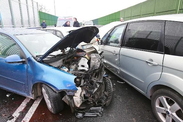 Wypadek na obwodnicy Leśnicy