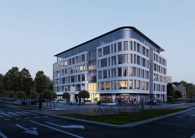 Tak będzie wyglądał biurowiec biurowca Officer. Wizualizacje studia architektonicznego Kwadrat z Gdyni