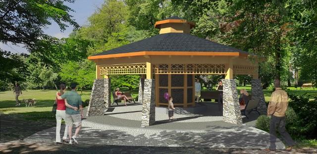 Tak ma wyglądać tężnia w Lubniu, która stanie obok skate parku, sceny, siłowni i placu zabaw