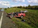 Poważny wypadek na obwodnicy Chojnic 22.07. Droga zablokowana, na miejscu był śmigłowiec LPR