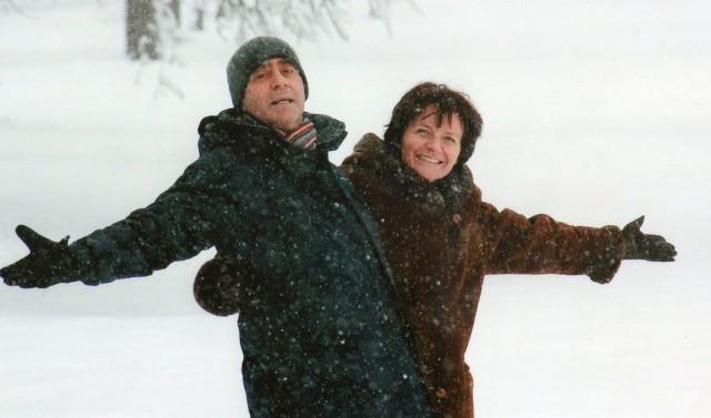 Grudzień 2010 r. - Piotr z Joanną. Jeszcze nikomu nie śniło się, że za progiem ich domu stoi SLA