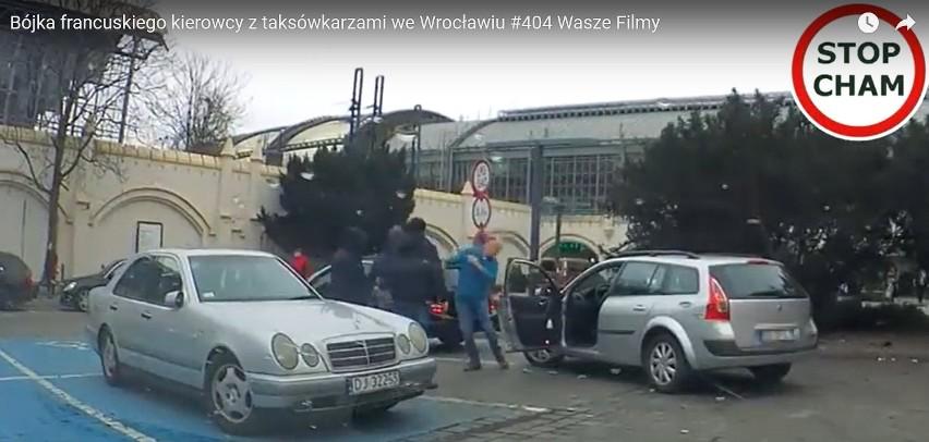 Wrocław: Taksówkarze pobili Francuza przed Dworcem Głównym