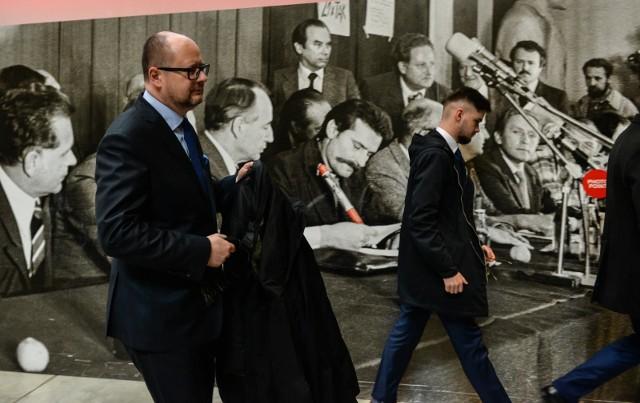 Konferencja Pawła Adamowicza w ECS, podczas której potwierdził swój udział w nadchodzących wyborach na prezydenta Gdańska [19.02.2018]