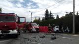 Koszmarny wypadek na DK45. Zginął ojciec i jego kilkumiesięczna córka. Osobówka zderzyła się z autobusem w Raciborzu.