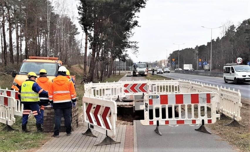 2 kwietnia 2020 r. Awaria na sieci kanalizacyjnej przy ul. Trasa Północna w Zielonej Górze