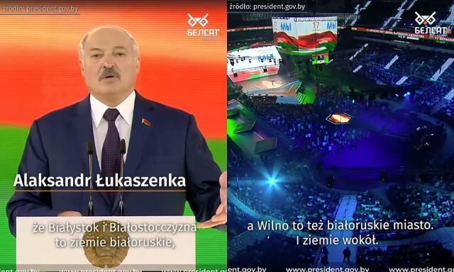 """Dlaczego w '39 roku nie obroniliście swoich """"tak bardzo polskich"""" ziem? Dlaczego w ciągu dwóch tygodni oddaliście całą Polskę razem z Grodnem i Brześciem? W ciągu dwóch tygodni! Dlaczego tam nie umieraliście, skoro to są wasze ziemie? - takie pytania do Polaków kierował Łukaszenka podczas nowego białoruskiego święta - Dnia Jedności Białorusi. Ustanowiono je na 17 września - dzień agresji ZSRR na Polskę"""